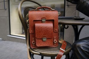 Мужской портфель из ременной кожи - ІНШІ РОБОТИ