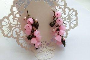 Вантажні рожеві сережки - Опис