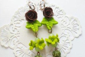 Шоколадно-Лаймові сережки - Опис