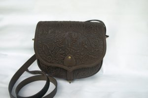 сумка шкіряна Ягдаш коричнева - Опис
