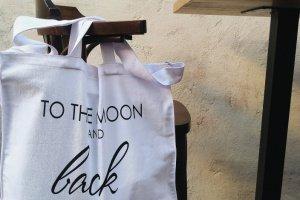 "Дизайнерська сумка-шопер ""to the moon and back"" - Опис"