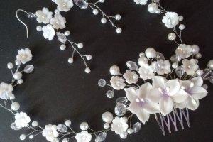 Весільний Гребінь і сережки - Опис