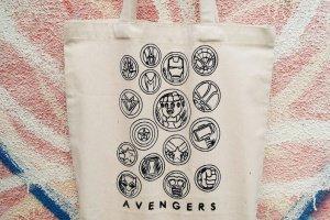 """Дизайнерська сумка-шопер """""""" Avengers """""""" - ІНШІ РОБОТИ"""