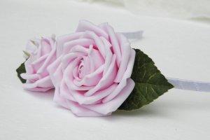Обруч з трояндами, Ободок з рожевими квітами - Опис