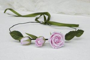 Вінок на голову з трояндами, Рожевий вінок