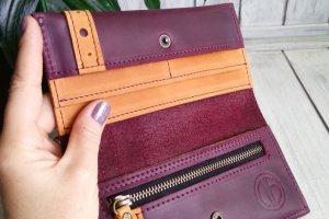 Шкіряний гаманець жіночий. - Опис