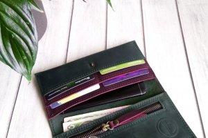 Зелёный кожаный кошелек - ІНШІ РОБОТИ
