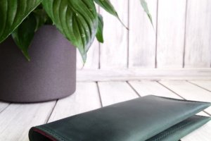 Зелений шкіряний гаманець - Опис