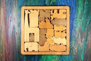 Пазл дерев'яний Тварини 2, пазл деревянный Животные - ІНШІ РОБОТИ