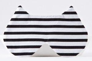 Робота Маска для сну кішка в смужку чорно біла
