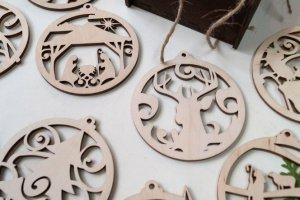 Дерев'яні новорічні іграшки 1, Новорічний декор - Опис