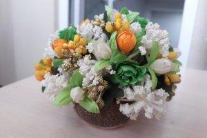 Робота Квіткова композиція оранж