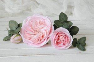 Робота Набор шпилек с эвкалиптом и пионовидными розами