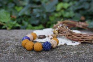 Гірчичне Валяне намисто, етно коралі, буси на подарунок - ІНШІ РОБОТИ