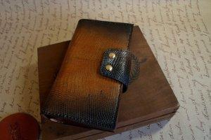 Мужской кошелек из натуральной ящерицы - Опис