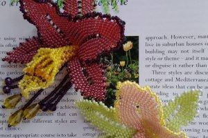 Брошь Орхидея с подвесками - ІНШІ РОБОТИ