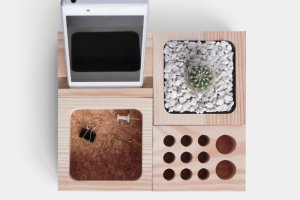 Дерев'яний органайзер-підставка - Опис