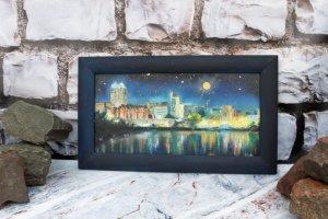 """Робота Картина маслом """"Небо над Дніпром"""""""