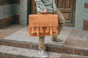 Кожаная сумка для ноутбука 17 дюймов, мужской портфель  - ІНШІ РОБОТИ