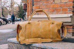 Робота Коричневая спортивная сумка, Дорожная кожаная сумка