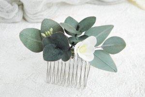 Ніжний маленький гребінь для волосся з евкаліптом і фрезією - Опис