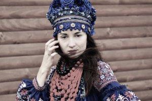 Очіпок український синій, вінок квітковий пишний - ІНШІ РОБОТИ