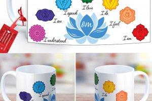 Робота Чакри і лотос медитативні малюнки - дизайнерська чашка
