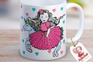Єдиноріг на казковій конячці - дизайнерська чашка - ІНШІ РОБОТИ