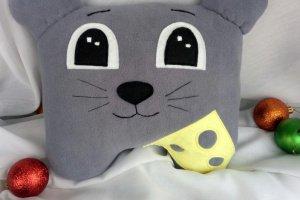декоративна подушка іграшка миша мишка