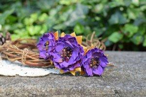 Віночок, ободок, обруч квітковий фіолетовий, подарок - ІНШІ РОБОТИ