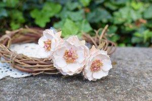 Робота Віночок ободок обруч квітковий персик подарок