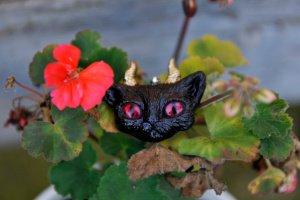 Милий косоокий кіт - брошка - ІНШІ РОБОТИ