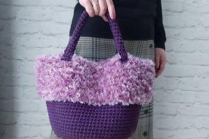 Робота Сумка-козуб Fuzzy Bag - в'язана сумка з еко-хутром