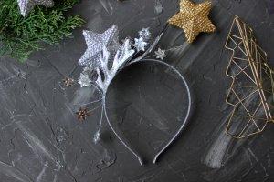 Обруч Стильна срібна зірка - Опис