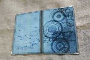 Робота обкладинка на паспорт сіро-блакитна