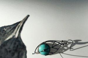 Робота Блакитні сережки у вигляді листочків