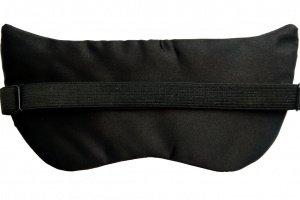 Маска для сну з широкою гумкою Silenta Fox Black + беруші - Опис