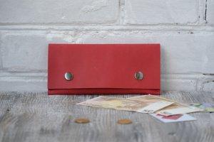 Робота Жіночій гаманець з натуральної шкіри Crazy horse wa_018_red
