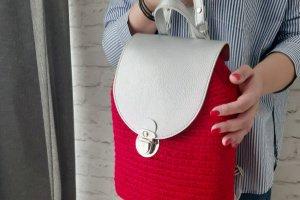 Рюкзак червоний з сріблом - ІНШІ РОБОТИ