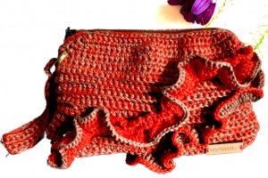 Робота сумка-клатч коралово-бежевого кольору