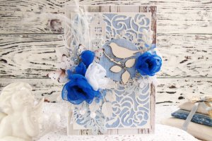 Робота Весняна листівка в блакитних тонах