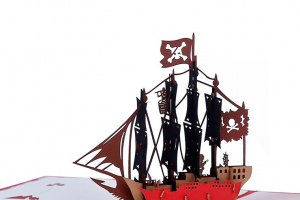 Листівка Піратський корабель