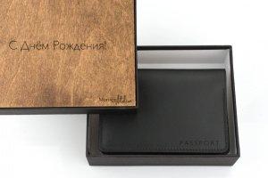 Робота Обкладинка для паспорта з натуральної італійської шкіри