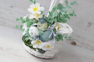 Великодній кошик з яєчками - Опис