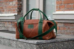 Дорожня сумка з коричневої шкіри, Шкіряна спортивна сумка - ІНШІ РОБОТИ