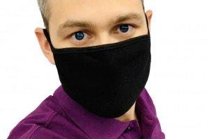 Маска для обличчя захисна багаторазова Silenta Man, Black - ІНШІ РОБОТИ