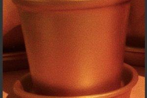Керамічний вазон (золото) - Опис