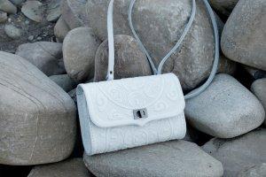 сумка клатч Трипілля міні біла