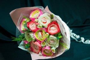 Букет з цукерок Рожевий фламінго - ІНШІ РОБОТИ