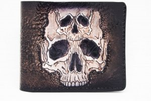 Шкіряний гаманець з тисненням черепа - ІНШІ РОБОТИ